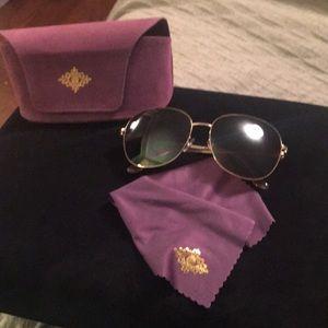 Carol Brody Hamsa Hands gold sunglasses never worn
